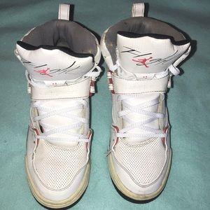 Girls Jordan Flight 45 GS Leather B-Ball Sneakers